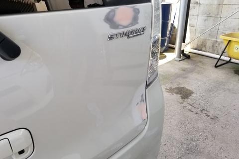 スズキ ワゴンR バックドア板金塗装